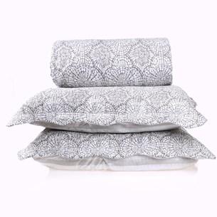 Kit Cobre Leito Ultra Lisse Casal + Porta Travesseiro Ornament Special - Bene Casa
