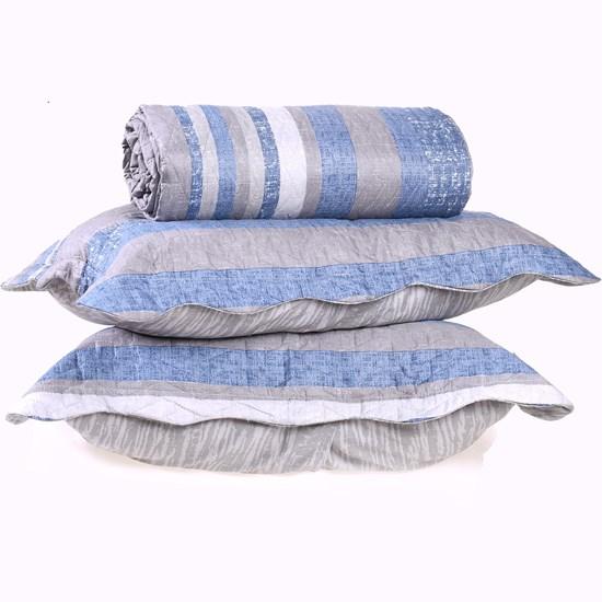 Kit Cobre Leito Ultra Lisse Casal + Porta Travesseiro Stripe Special - Bene Casa