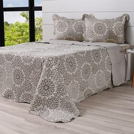 Kit Cobre Leito Ultra Lisse Casal + Porta Travesseiros Rolinho Cádis - Bene Casa