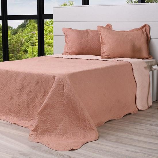 Kit Cobre Leito Ultra Lisse Casal + Porta Travesseiros Rolinho Terrassa - Bene Casa