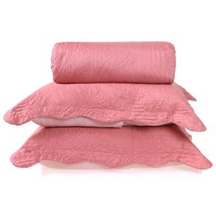 Kit Cobre Leito Ultra Lisse Casal + Porta Travesseiros Rosa Matte - Bene Casa