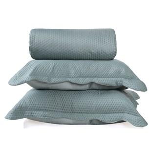 Kit Cobre Leito Ultra Lisse Casal + Porta Travesseiros Verde Matte - Bene Casa