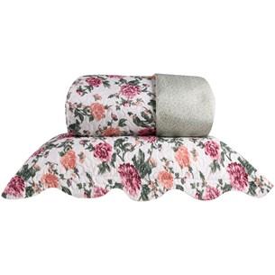 Kit Cobre Leito Ultra Lisse Queen Dupla Face Com Porta Travesseiro Energita - Bene Casa
