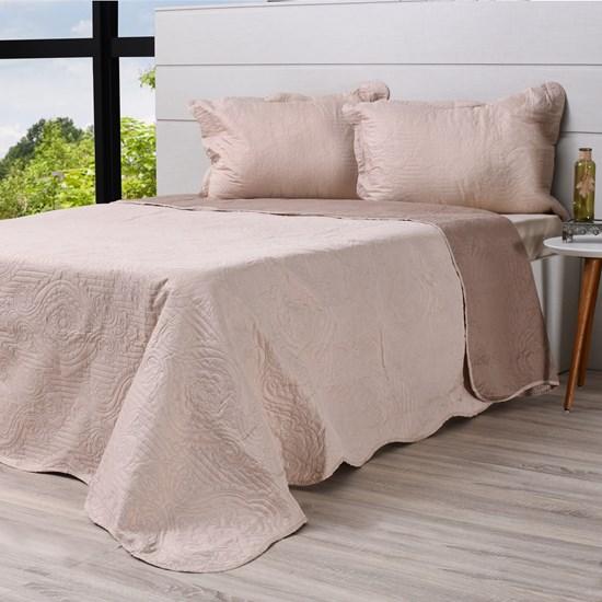 Kit Cobre Leito Ultra Lisse Queen + Porta Travesseiros Rolinho Volterra - Bene Casa