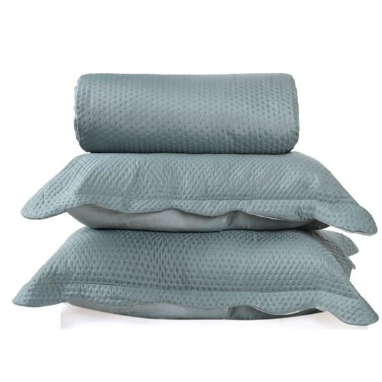 Kit Cobre Leito Ultra Lisse Queen + Porta Travesseiros Verde Matte - Bene Casa
