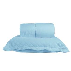 Kit Cobre Leito Ultra Lisse Solteiro + Porta Travesseiros Rolinho Turquesa - Bene Casa