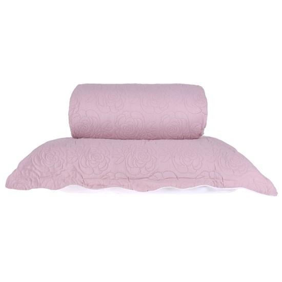 Kit Colcha Com Porta Travesseiro Casal Toque Extra Macio  Soft Rose - Tessi