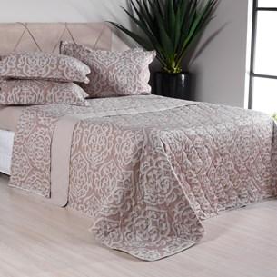 Kit Colcha Com Porta Travesseiros King 200 Fios 100% Algodão Premium Toque Extra Macio Sollievo - Tessi