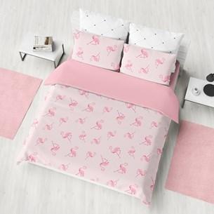 Kit Colcha Infantil Casal Em Malha 100% Algodão   Flamingo - Bene Casa