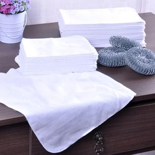 Kit Com 12 Flanelas 27Cm X 40Cm 100% Algodão Branco - Panosul
