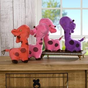 Kit Com 4   Bichinhos De Pelúcia  Girafinha - Meu Pet