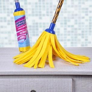 Kit Com 6 Esfregão De Limpeza 28Cm   Amarelo - Panosul