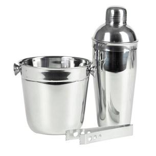 Kit Coqueteleira Inox Para Drinks Inox - Bene Casa