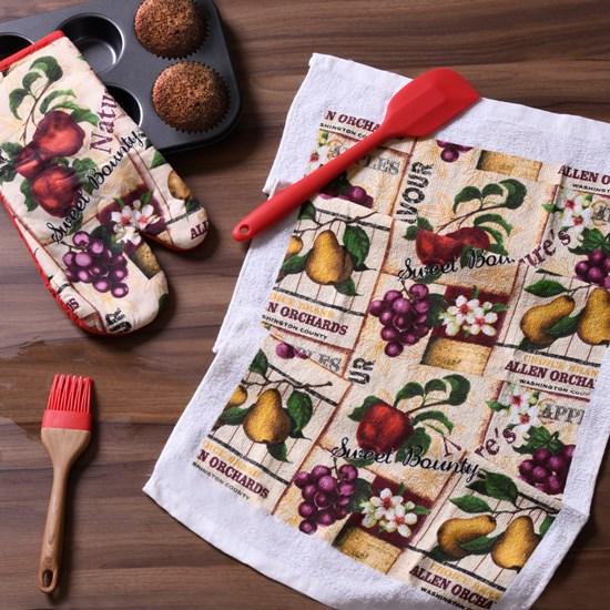 Kit De Cozinha 2 Peças   Luva E Pano  Apple - Panosul