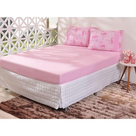 Kit Fronhas 50Cm  X 70Cm Malha 100% Algodão Flamingo - Bene Casa
