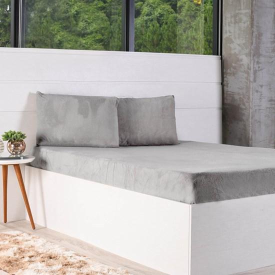 Kit Lençol + Solteiro Fronha Plush Soft Urban - Bene Casa
