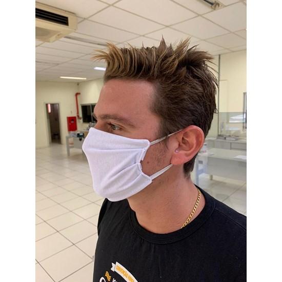 Kit Máscara Dupla Camada   Costura Reforçada Branco - Panosul