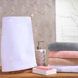 Kit Toalhas De 6 Toalhas Lavabo Glamour Corpo Canelado Branco - Tessi