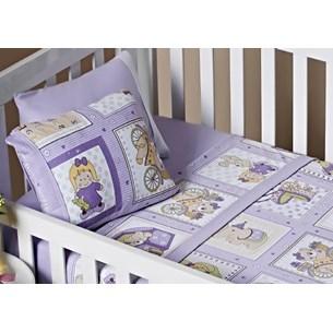 Lençol De Baby Em Malha 100% Algodão Fio Penteado Lilas - Bene Casa