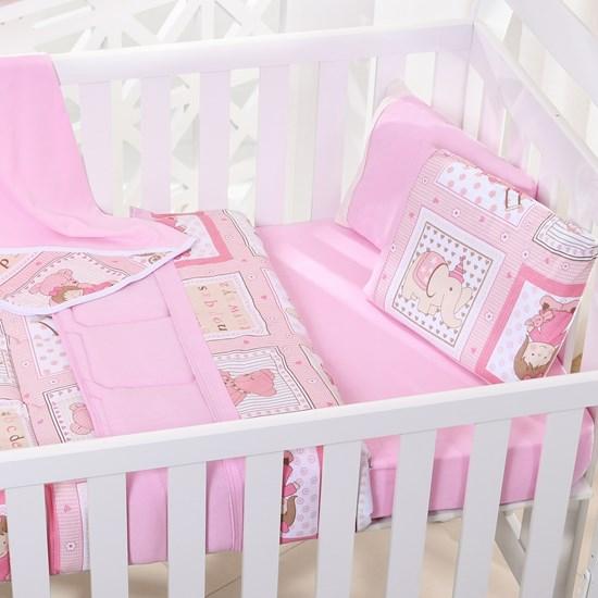 Lençol De Baby Em Malha 100% Algodão Fio Penteado Rosa - Bene Casa
