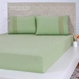 Lençol De Malha Solteiro Fio Pentenado Com Elástico Bela Cama Verde - Bene Casa