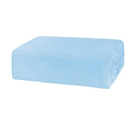 Lençol De Plush King Com Elástico Soft Azul - Bene Casa