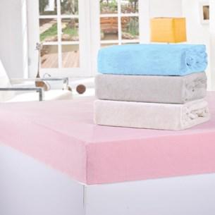Lençol De Plush Solteiro Com Elástico Soft Azul - Bene Casa