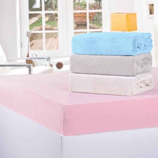Lençol De Plush Solteiro Com Elástico Soft Taupe - Bene Casa