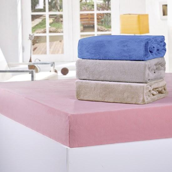 Lençol De Plush Solteiro Soft C/Elástico 180G/M² Sortido Neutros - Bene Casa