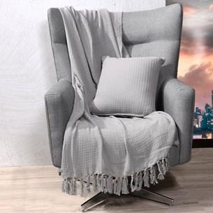 Manta Capa Sofa Algodão Favo 1,60M X 2,20M   Granito - Tessi