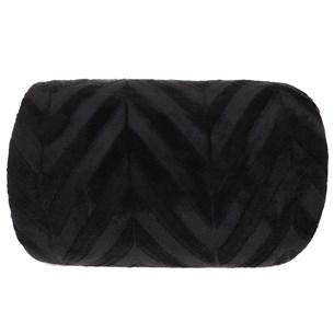Manta Cobertor Casal Microfibra Flannel Penteado  Preto - Tessi