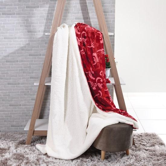 Manta Cobertor Casal Sherpa Lã De Carneiro + Flannel Imperial - Tessi