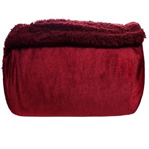 Manta Cobertor Casal Sherpa Pele De Carneiro Realce Rouge - Tessi