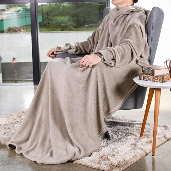 Manta Cobertor De Tv 1,35M X 1,70M 1,35M X 1,70M Taupe - Bene Casa