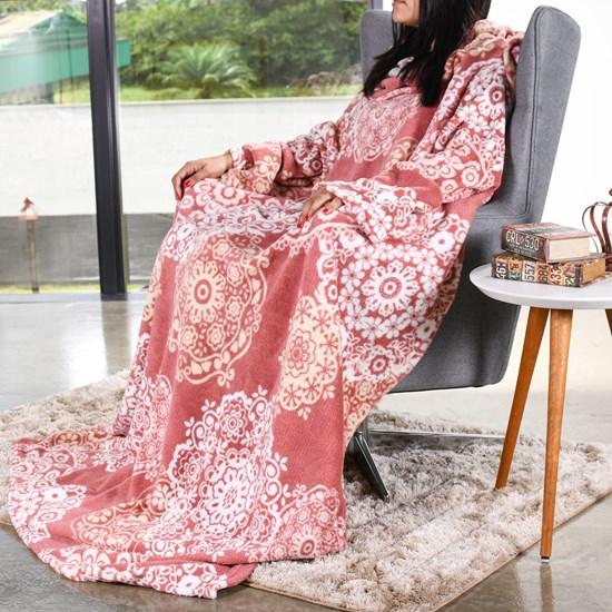 Manta Cobertor De Tv C/ Mangas 1,35M X 1,70M   Renda - Bene Casa