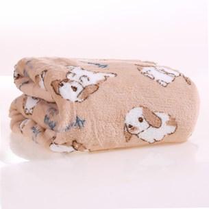 Manta Cobertor Em Microfibra Para Cachor 70Cm  X 1,00M   Cinza - Meu Pet