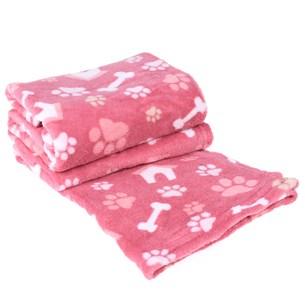Manta Cobertor Em Microfibra Para Cachor 70Cm  X 1,00M   Creme - Meu Pet