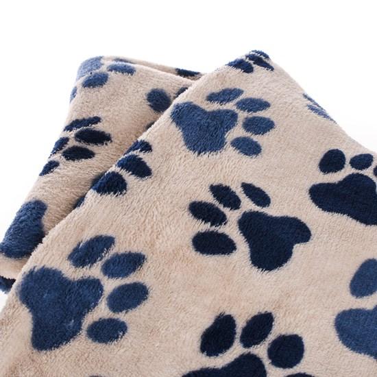 Manta Cobertor Em Microfibra Para Cachor 70Cm  X 1,00M   Marrom - Meu Pet