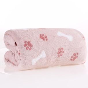 Manta Cobertor Pet 1,20M X 1,50M Microfibra Plush Rosa Blush - Meu Pet