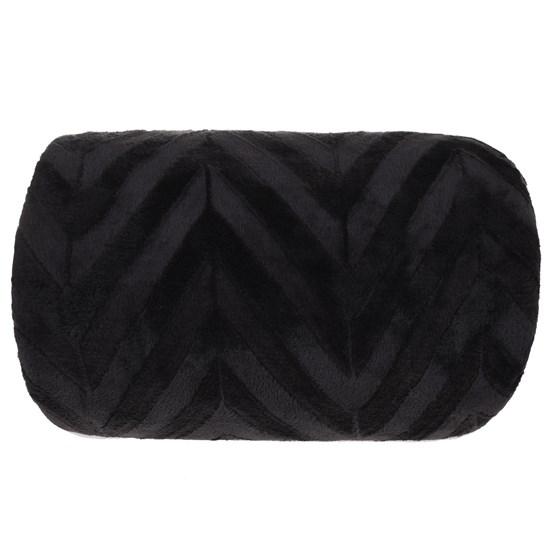 Manta Cobertor Queen Microfibra Flannel Penteado  Preto - Tessi