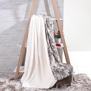 Manta Cobertor Queen Sherpa Lã De Carneiro + Flannel Carrara - Tessi