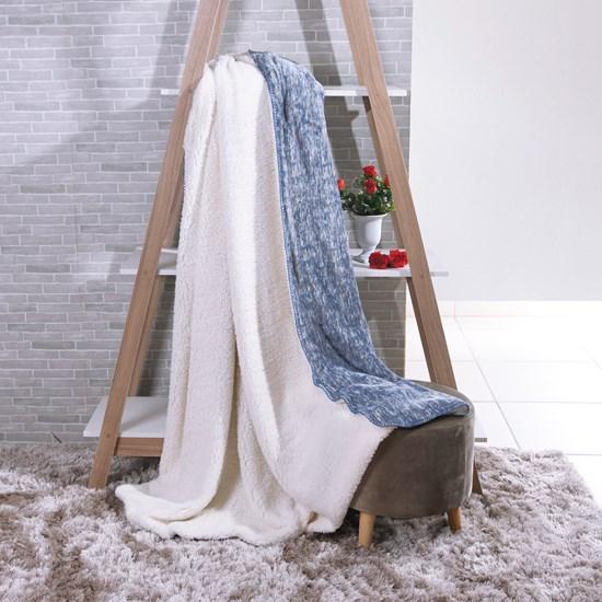 Manta Cobertor Queen Sherpa Lã De Carneiro + Flannel Forum - Tessi