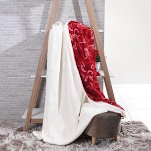 Manta Cobertor Queen Sherpa Lã De Carneiro + Flannel Imperial - Tessi