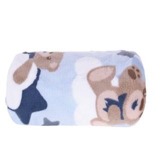Manta De Microfibra Bebê 70Cm  X 1,00M Estampada Coruja - Bene Casa