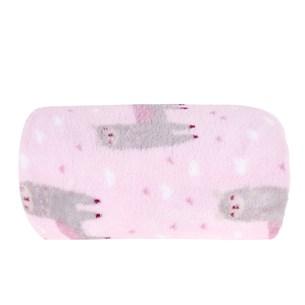 Manta De Microfibra Bebê 70Cm  X 1,00M Estampada Poa Rosa - Bene Casa
