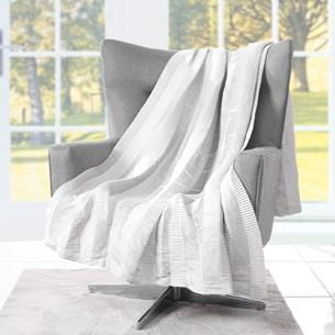 Manta Plissada   Toque De Elegância Com Detalhes Plissado Branco - Tessi