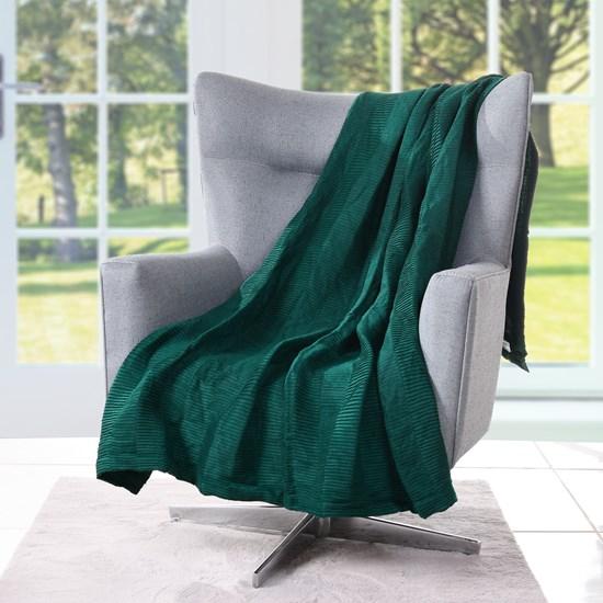 Manta Plissada   Toque De Elegância Com Detalhes Plissado Verde - Tessi