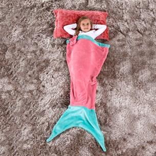 Manta Saco De Dormir Infantil 1,40M X 60Cm Sereia Rosa - Bene Casa