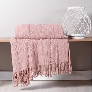 Manta Sofá Decorativa 1,27M X 1,52M Tricot Toque Macio Misty - Tessi