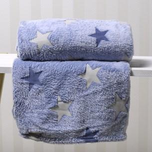 Manta Solteiro Microfibra Flannel Extra Macia Azul - Bene Casa